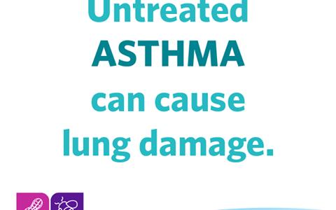 Μη ελεγχόμενο άσθμα προκαλεί βλάβη στον πνεύμονα